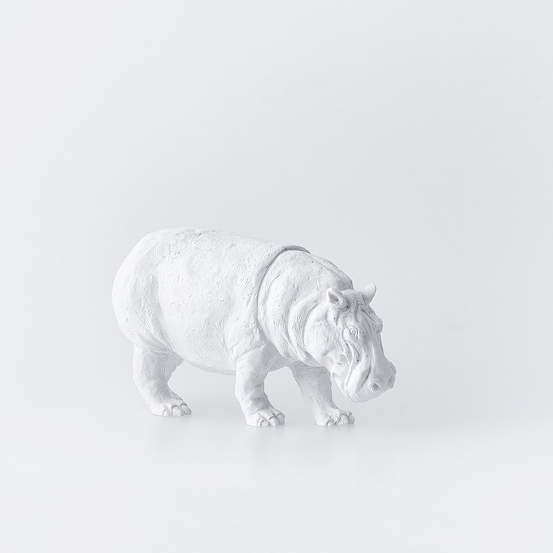 Animal Paper Town Decoration – Hippo / Animal Paperweight - Hippo