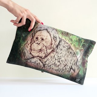 Animal Equality Clutch Bag—Rainforest(Orangutan)