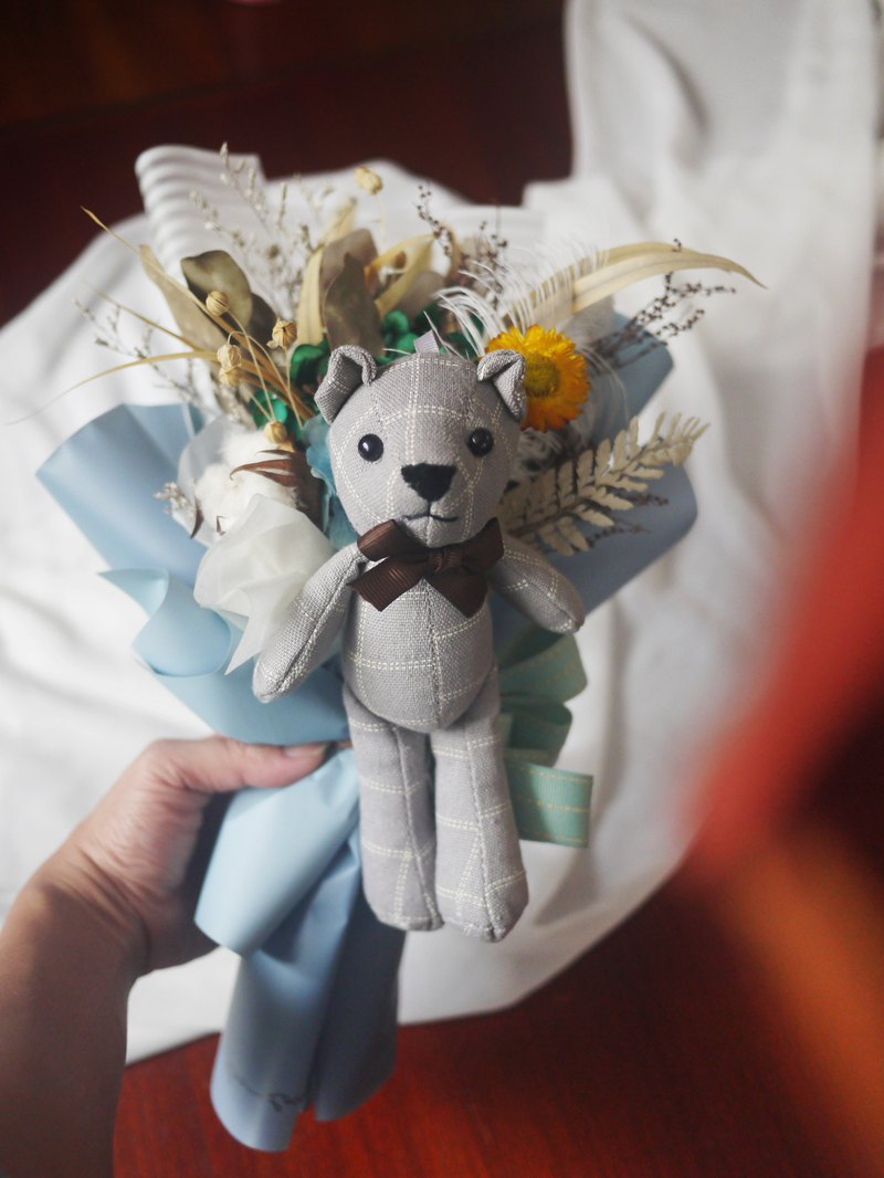 Bear love you dolls small bouquet