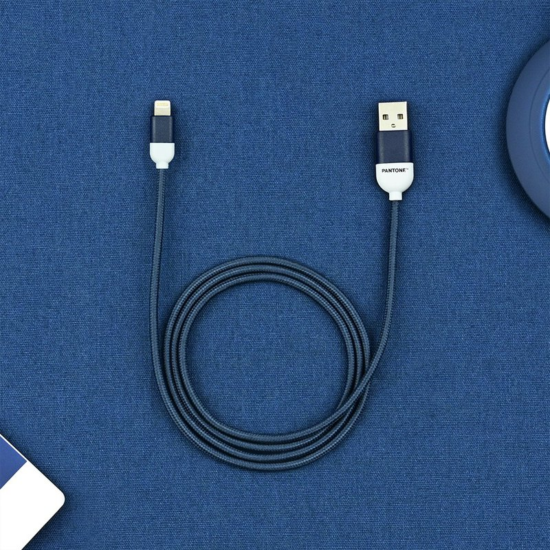 Pantone Nylon Braided Lightning Cable- to USB A-Apple MFi