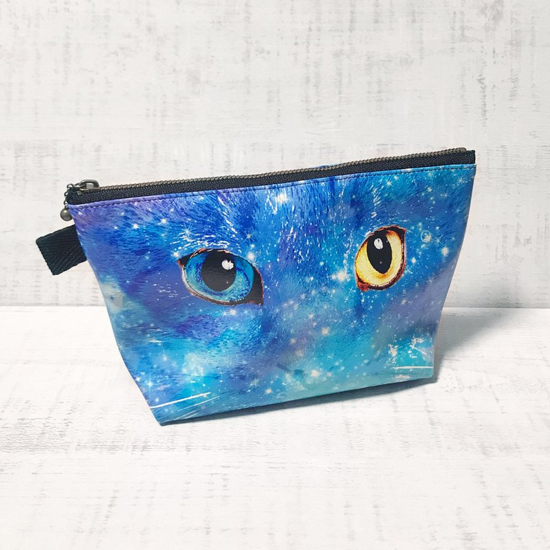 Pouch Odd Eye / Cosmetic pouch / accessory case / star / cat/ animal
