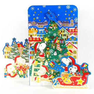 Snoopy Christmas Sound and Light Blessing Decoration [Hallmark-Peanuts Snoopy Christmas Series]