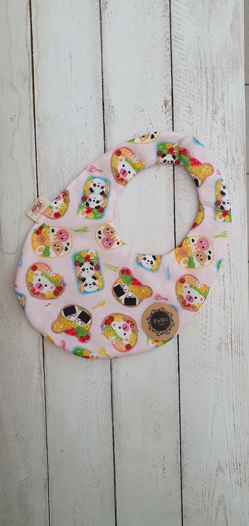 Picnic Party-Eight-layer yarn 100% cotton double-sided egg-shaped bib.