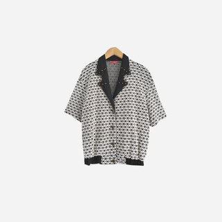 Dislocation vintage / black and white textured shirt no.809 vintage