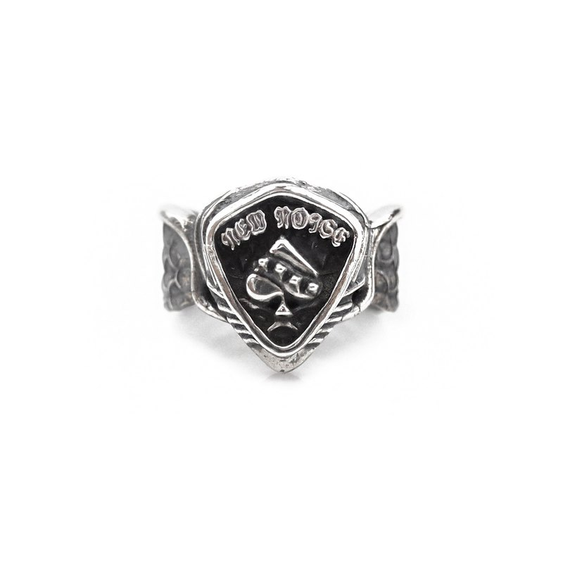 Spades PICK Wings Ring 925 Sterling Silver
