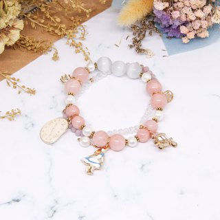 Alice in the mirror │ pink beaded bracelet │ bracelet