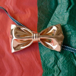 Rose gold bow tie, christmas bow tie
