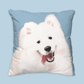 [I will love you forever] classic Samoyed dog animal pillow / pillow / cushion