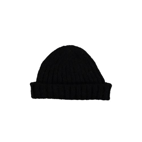 a367ed7e76d Mohair Ribbed Fisherman s Beanie in Black - Designer lowie