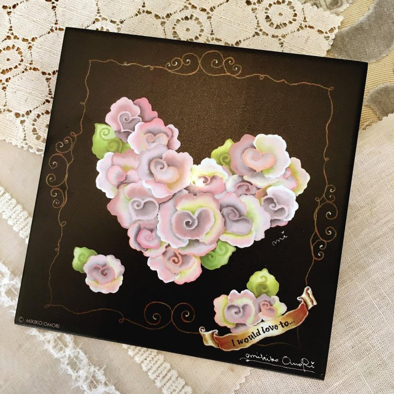 Decorative tile-lovely Rose