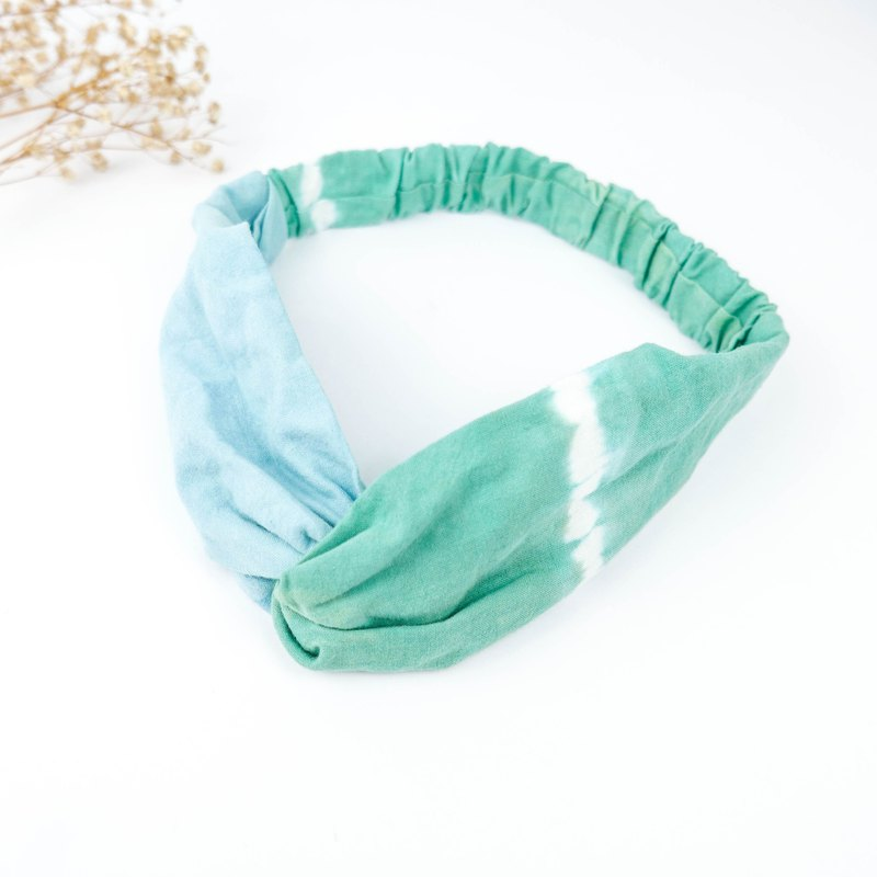 Tie-dye handmade Elastic hairband :Light Green:
