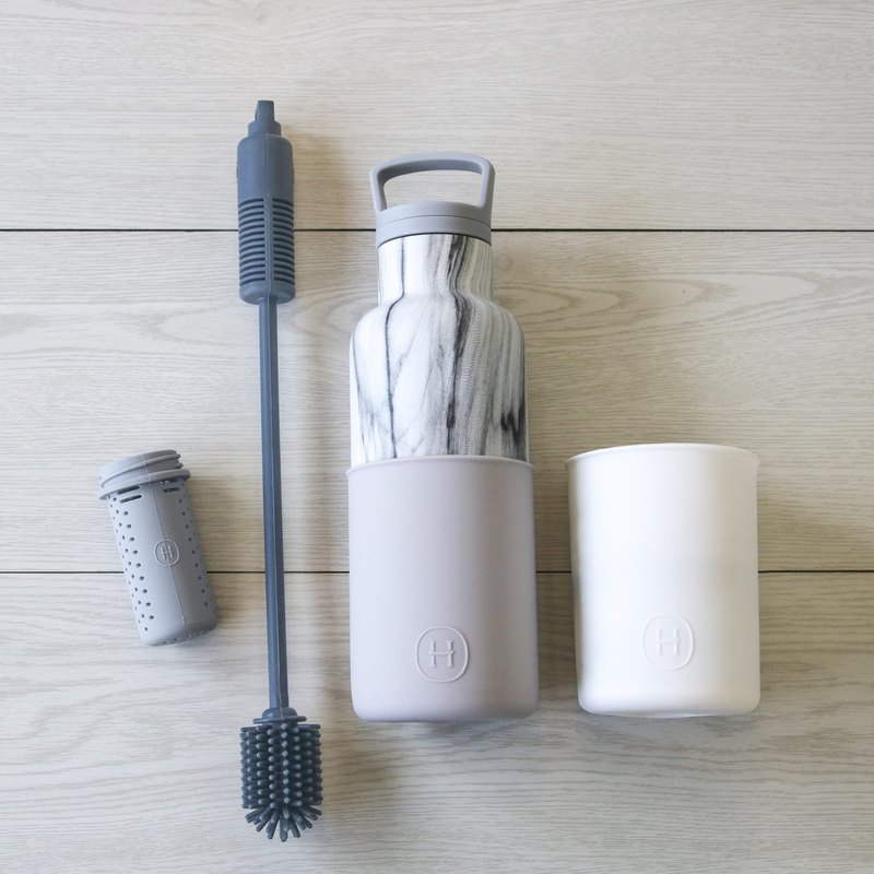 [Value-for-money four-in-one combination] cloud gray-marble bottle limited combination