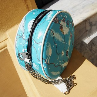 Blue Shoulder Bag Round Style - Deep Bluesea Collection