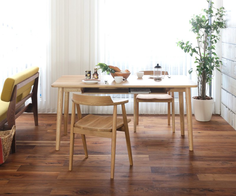Asahikawa Furniture Wood and Living Studio Dining Table (with shelf)