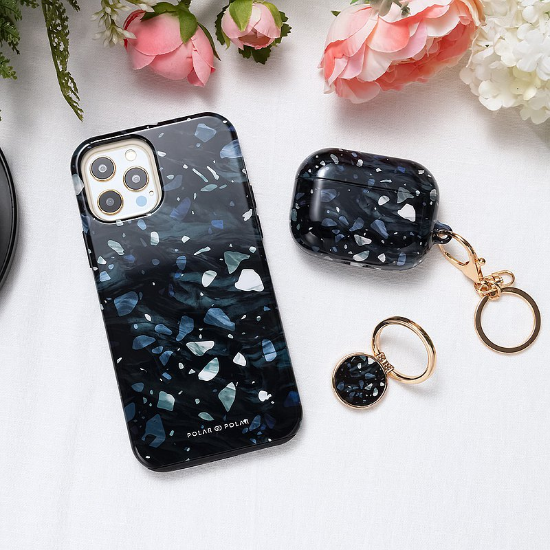 iPhone / Samsung 防摔手機殼 北歐水磨石