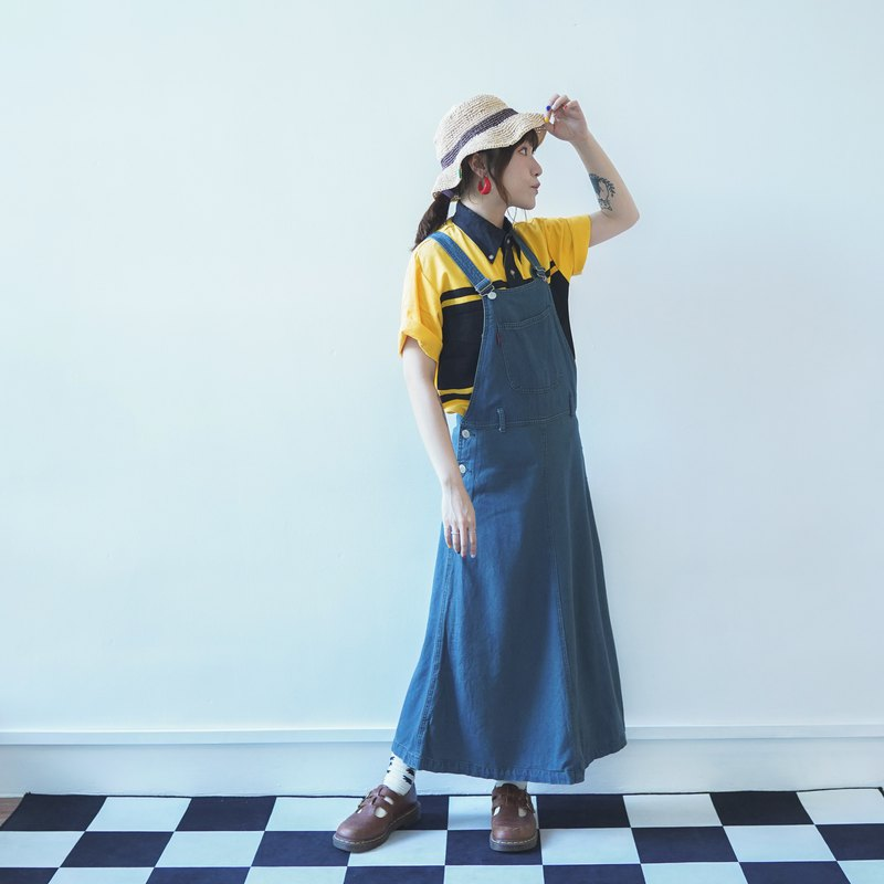 Vintage Denim Dungaree Dress