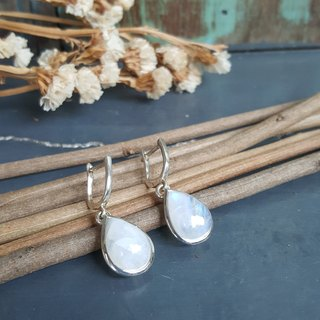 Beautiful droplets of moonstone earrings for her