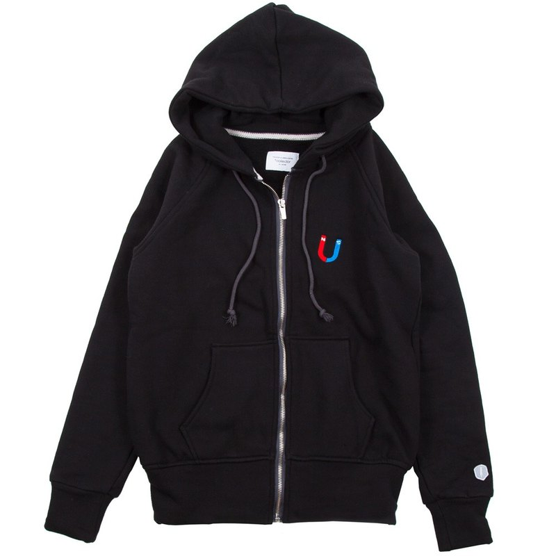 U-shaped magnet full-zip parka ladies free size Tcollector