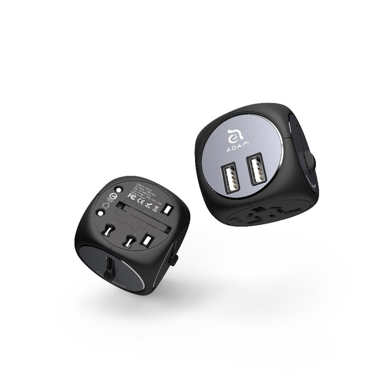 OMNIA TA502 5-in-one multi-hole USB multi-country universal adapter charging socket black and gray