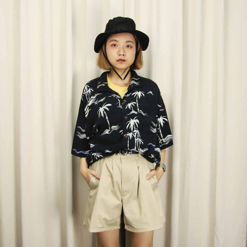 Tsubasa.Y Ancient House 002 Coconut Tree Night Hawaiian Shirt, Flower Shirt Print Summer