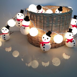 Christmas set Snowman & Snowball cotton ball string lights for Christmas fairy lights, Christmas Lights, Christmas tree decor, Party