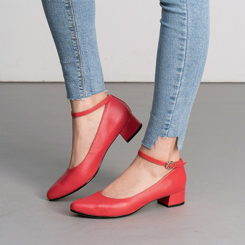 Carol sleepy pointed low heel shoes - rouge