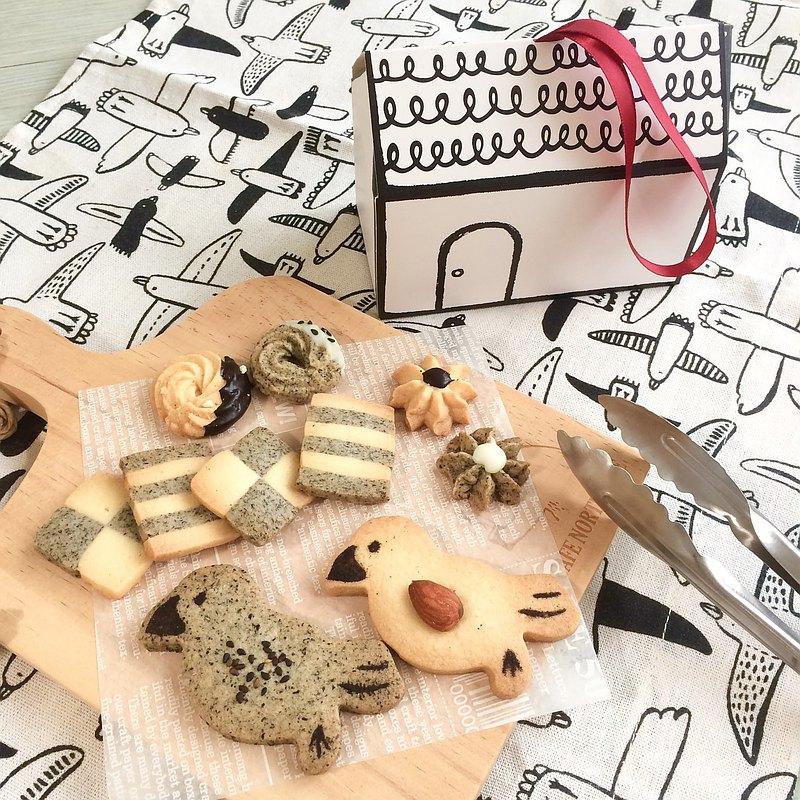 雙色文鳥餅乾 堅果系列 禮物 禮盒