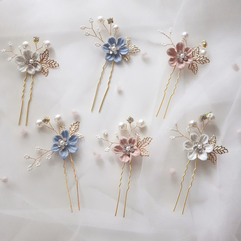 Flower Wedding Hair Pin 3 Colors
