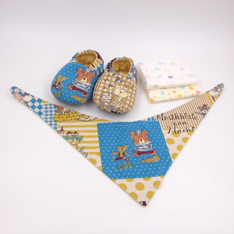 Bear Orchestra - Mi Yue gift box (toddler shoes / baby shoes / baby shoes + 2 handkerchief + scarf)
