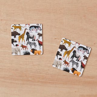 AFRICAN ANIMALS COASTER SET OF 2