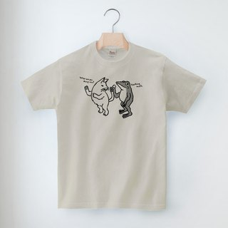 Cat and frog's T-shirt tail unisex