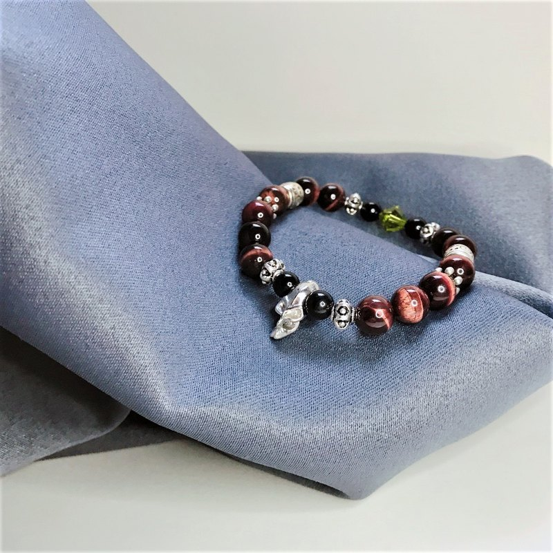 Fu bag mysterious ghost red tiger eye ore bracelet