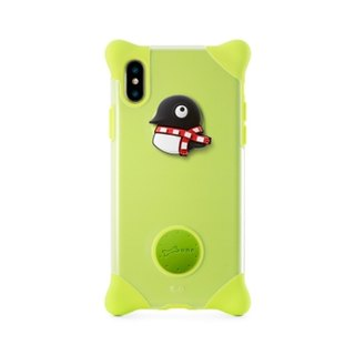 Bone / iPhone X Bubble Protector Phone Case - Penguin
