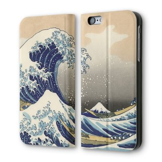 AppleWork iPhone 6 / 6S can be vertical flip leather Ukiyo-e PSIB6S-041