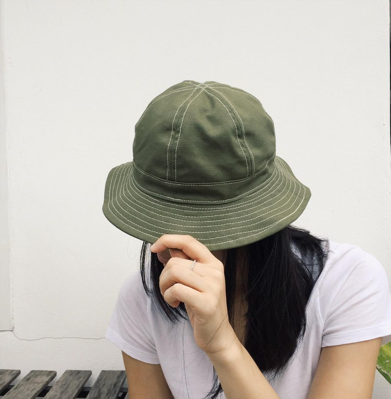 Olive Canvas Bucket Hat /Daisy mae /Daily use