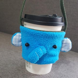 Elephant drink cup set/bag
