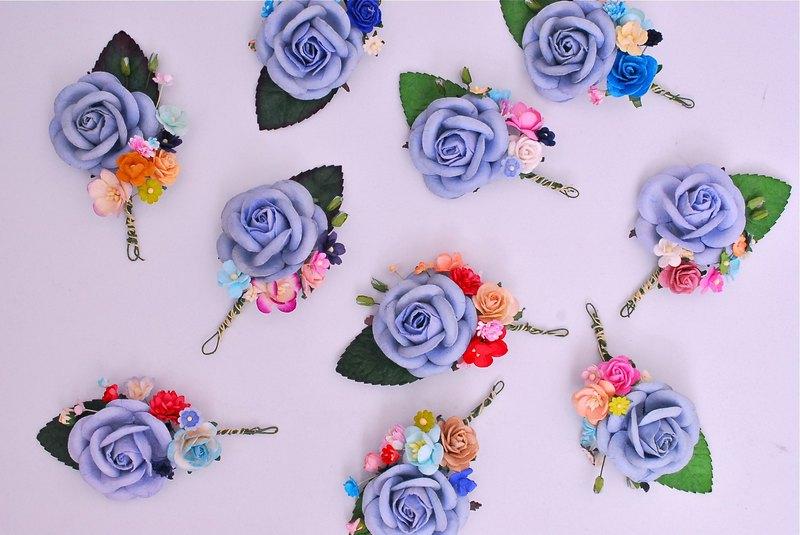 纸花束 核心  蓝玫瑰