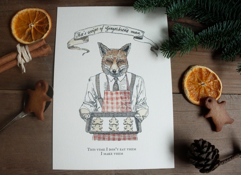 Mr. Fox's private recipe - Gingerbread Man