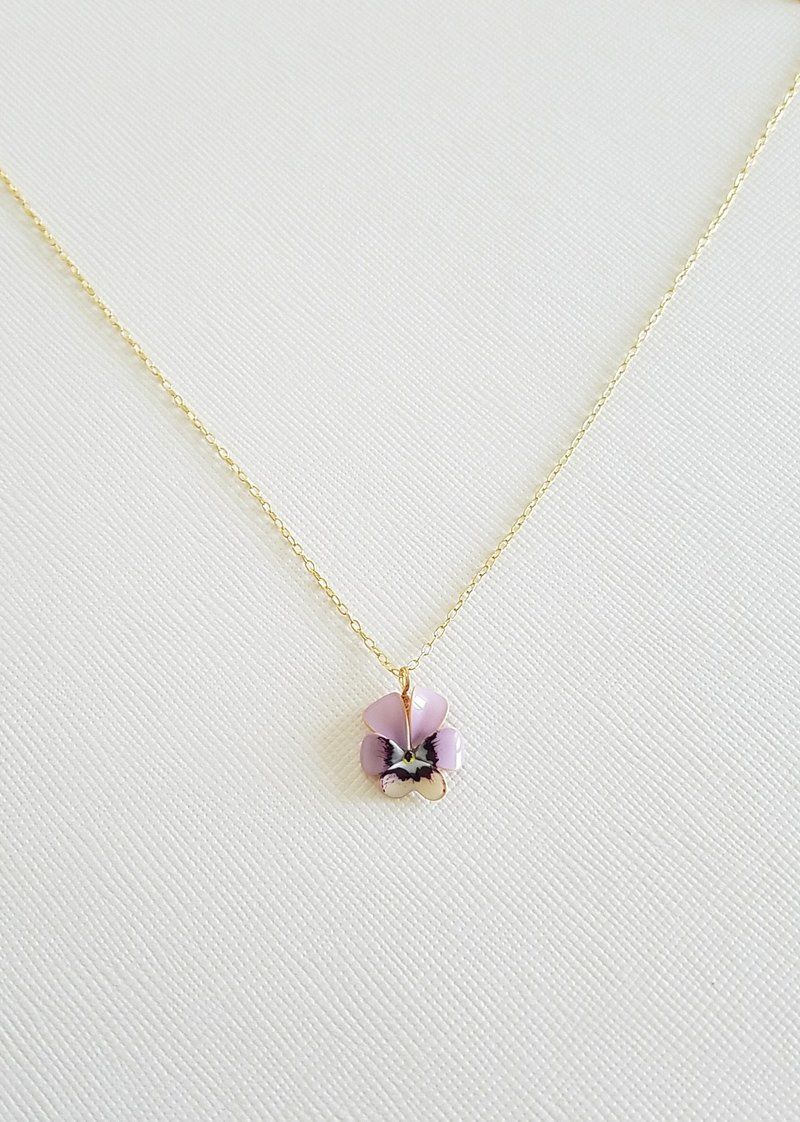 viola pendant & necklace <C>