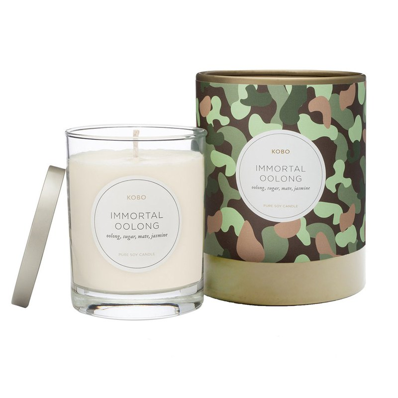 [KOBO] American Soybean Oil Candle-Oolong Flowing Fragrance (330g / 80hr)