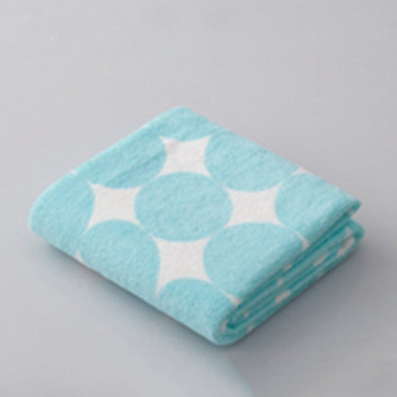 CB Japan Bubble Gum Geometry Series Microfiber 3 times Water Absorbing Turban Sky Blue