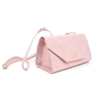 Triangular shoulder bag / oblique backpack / shoulder bag - pink