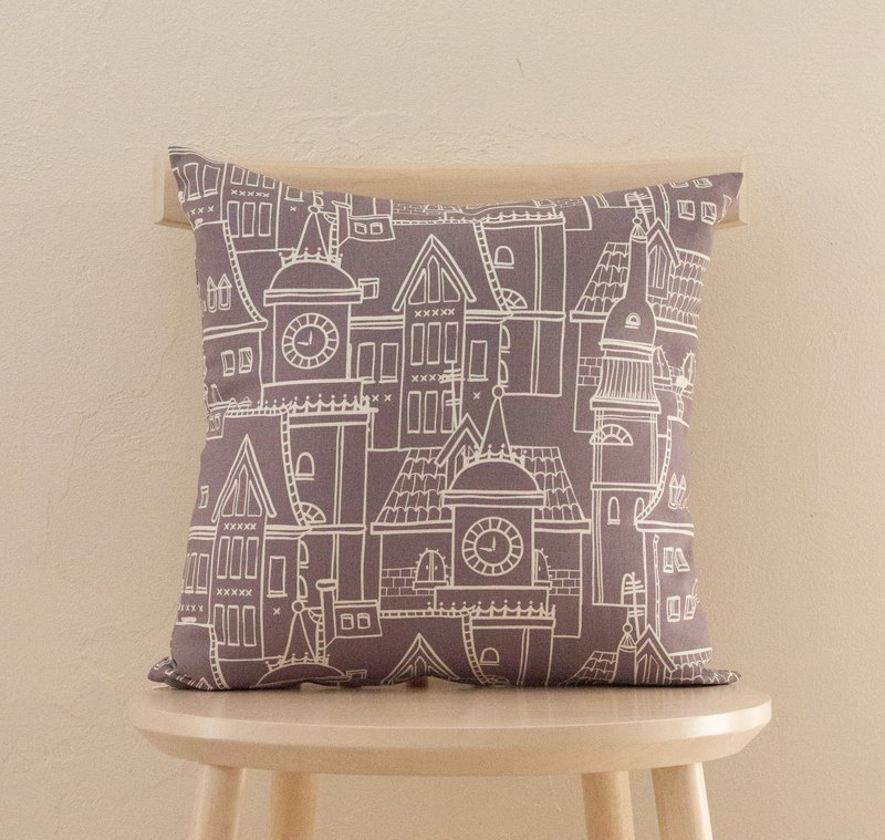 Cushion cover Europe city gray