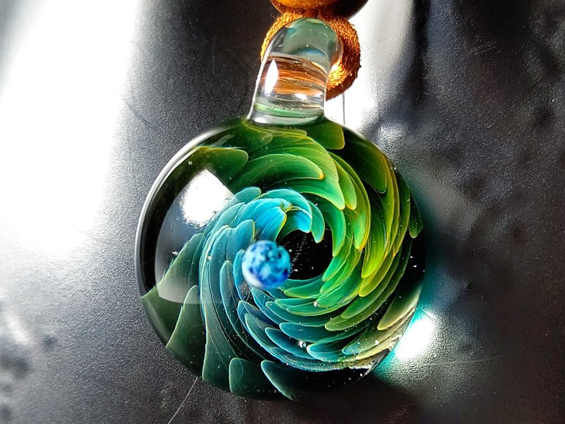 Omigra Space Glass Necklace Earth Genesis Necklace Pendant Men Women Unisex