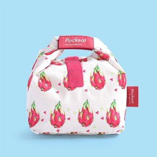 Good day | Pockeat green food bag (small food bag) - dragon fruit