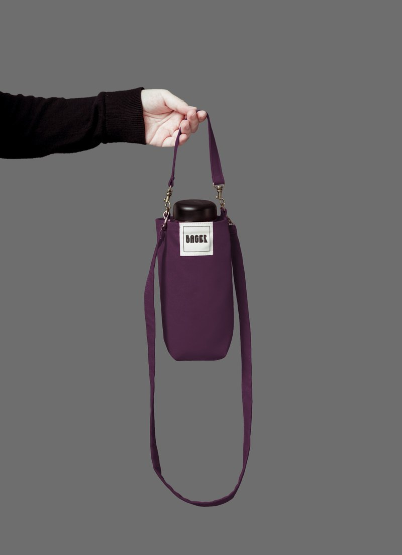 Universal environmentally friendly beverage bag detachable long strap with oblique shoulder portable purple