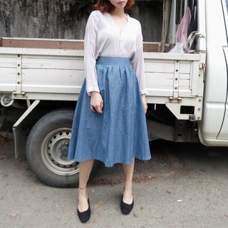 In fact, I also envy the Hepburn style round skirt - tannin | 100% organic cotton | temperament elegant Slim elastic waist loose round skirt in the short skirt