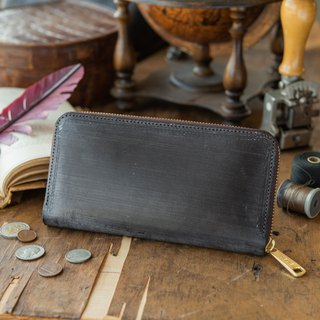 Japan manufactured cowhide packing deep brown Thomas Ware made in JAPAN handmade leather wallet