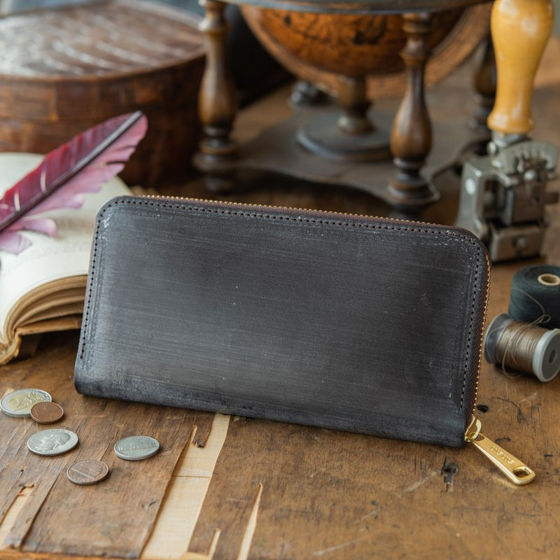 Manufactured in Japan Cowhide 錢包 Deep brown Thomas Ware Bridle made in JAPAN handmade leather wallet