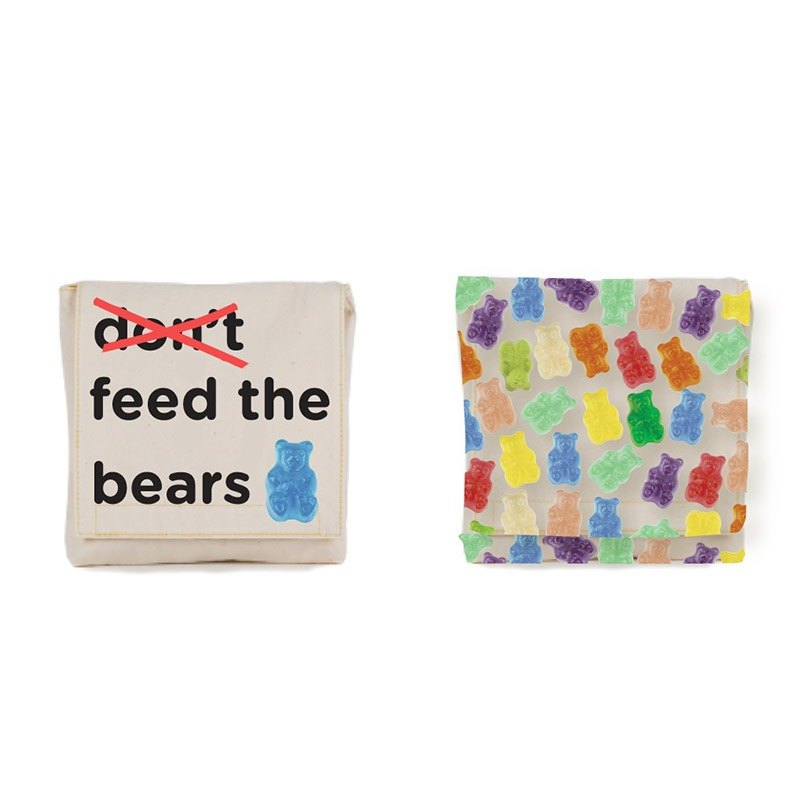 Canadian fluf Organic Cotton Small Bag - Bear Gummies (two in one set)